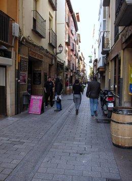 Imagen de la calle San Juan, incluida en el padrón de edificios para la ITE