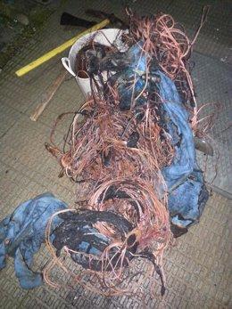 Cable hallado a la persona detenida en Manzanillo