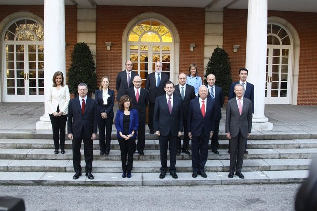 Foto De Los Ministros De Rajoy En Moncloa