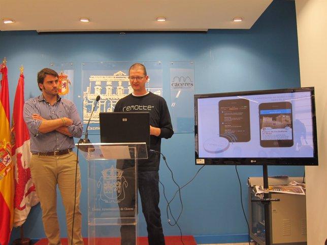 Presentación De La Aplicación 'Beaconers' En Cáceres