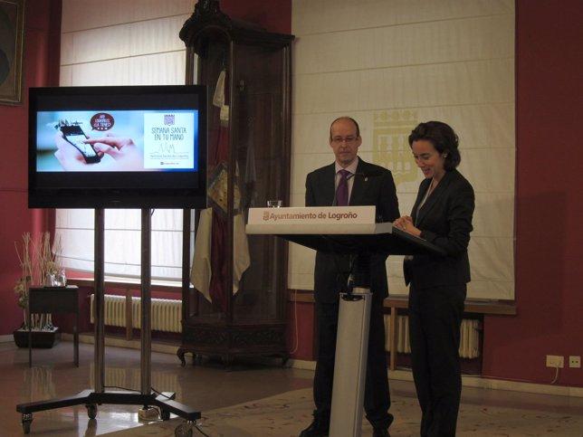 Gamarra y Benés, en la presentación del programa de Semana Santa 2014