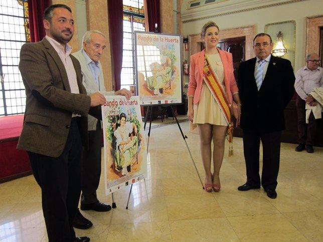 Gómez, Falgas, López y Avilés en la presentación del cartel de 2014