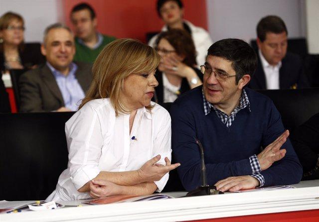 Elena Valenciano y Patxi López