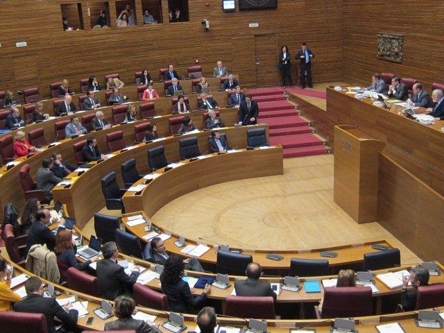 Pleno de las Corts. Imagen de archivo