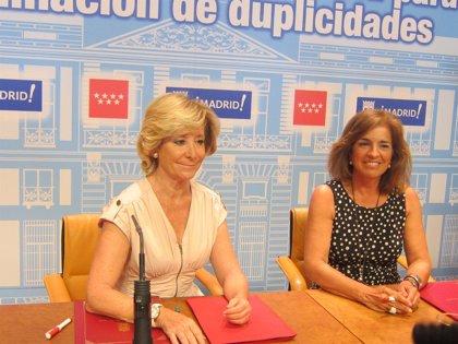 Aguirre y Botella, juntas de nuevo tras el incidente con los agentes de movilidad