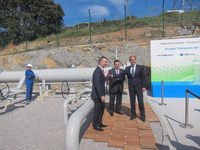 Inauguración gasoducto Bilbao-Treto