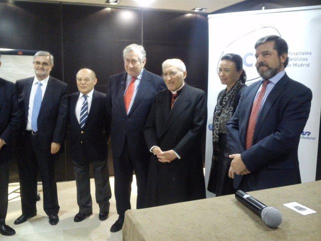 Rodríguez y Rouco Valera en la presentación del grupo HCM