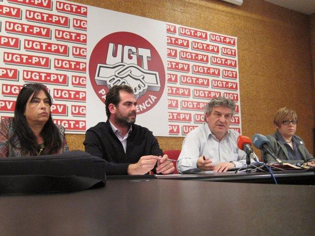 Rueda de prensa de afectados de Vaersa y FSP UGT-PV.