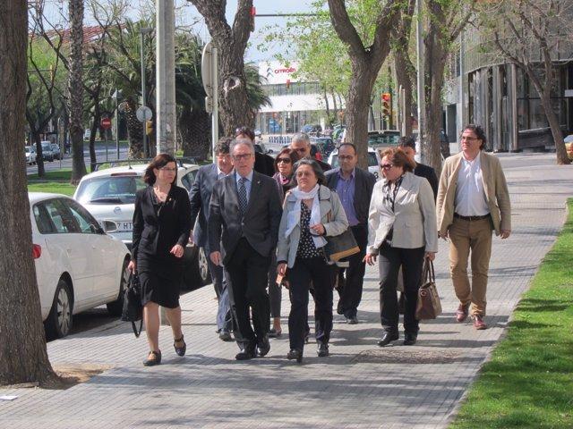 El pte. De la Diputación de Tarragona Josep Poblet (CiU) llega a los juzgados