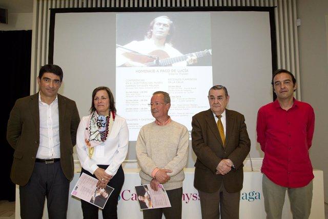 Presentación de las jornadas en homenaje al guitarrista Paco de Lucia