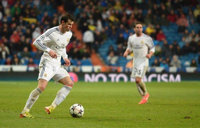 Gareth Bale en el encuentro ante el Borussia Dortmund