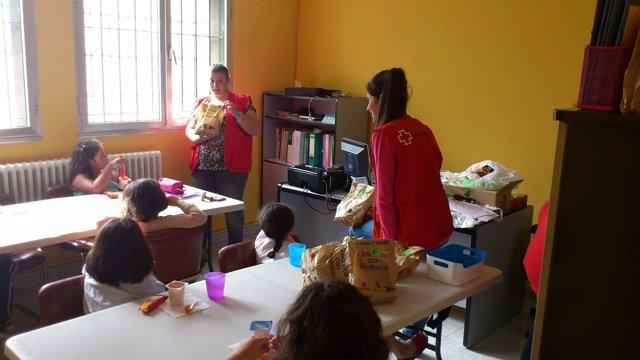 Meriendas solidarias de Cruz Roja