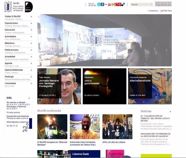 Página web del MuVIM.