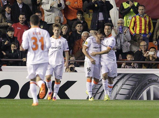 Valencia CF vence al PFC Ludogorets en Europa League