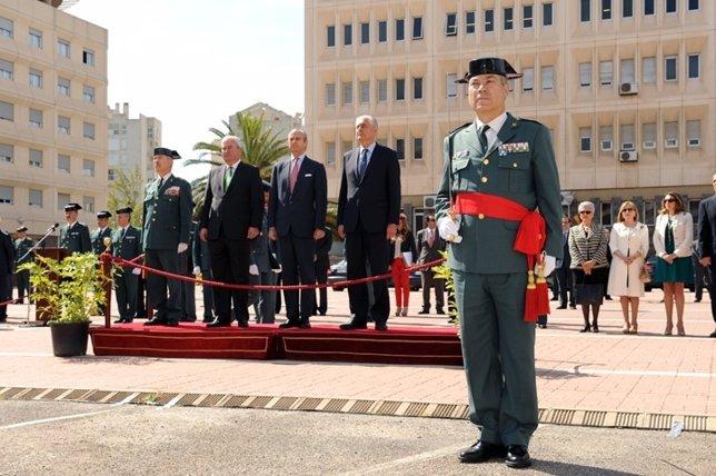 Toma de posesión del nuevo jefe de Zona de la Guardia Civil en Aragón