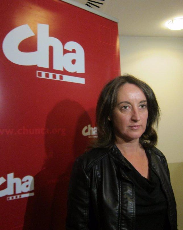 Ángela Labordeta, candidata de CHA a las elecciones europeas