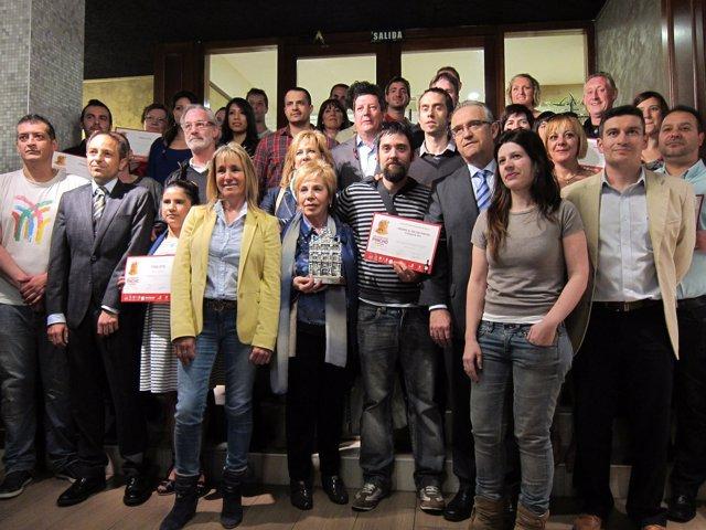 Galardonados, autoridades y participantes en la Semana del Pincho de Navarra