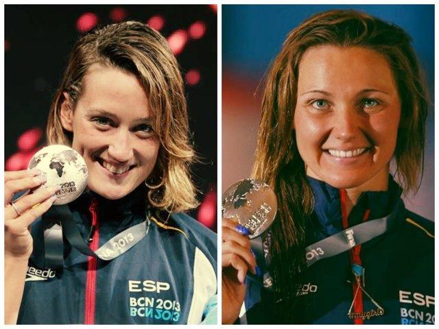 Las nadadoras españolas Mireia Belmonte y Melani Costa