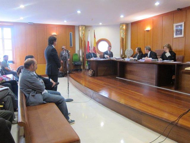 El alcalde de Polanco, Julio Cabrero, en el juicio por el pabellón de Requejada