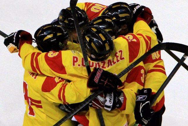El equipo español de hockey sobre hielo