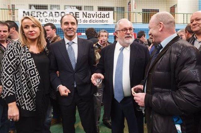 Arias Cañete con Diego en su última visita a Cantabria