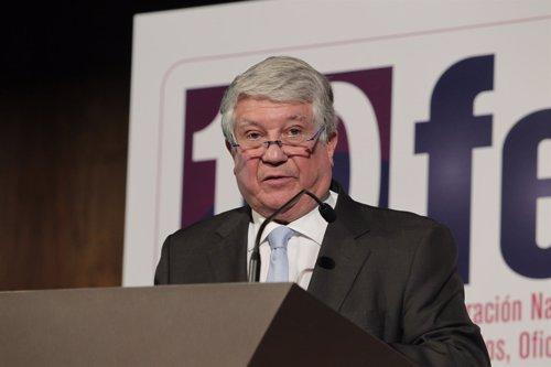El presidente de CEIM Arturo Fernández