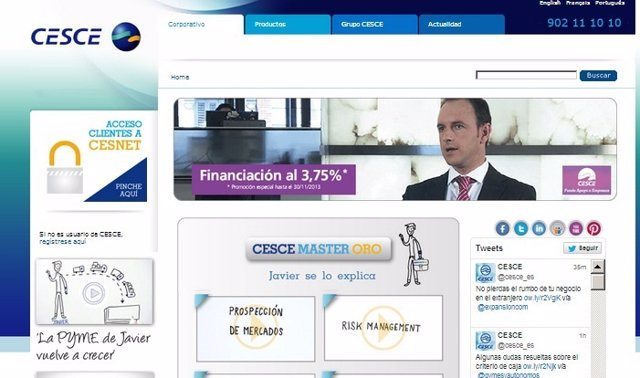 Página web de CESCE