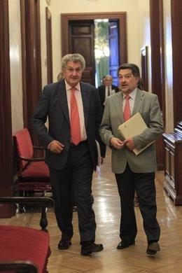 Jesús Posada y el socialista Javier Barrero