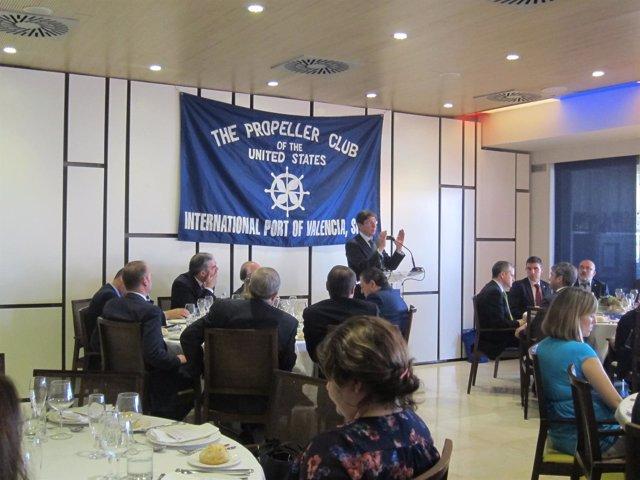 Goirigolzarri durante su conferencia en el Propeller Club