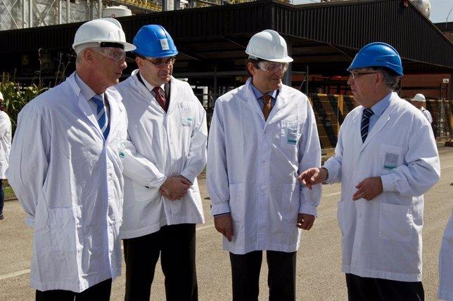 Visita institucional a la planta de Bayer en Asturias