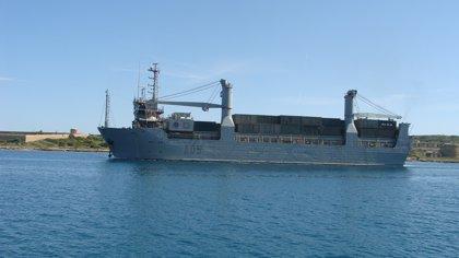 Llega a Menorca el primer buque de transporte militar para la realización de ejercicios de la OTAN