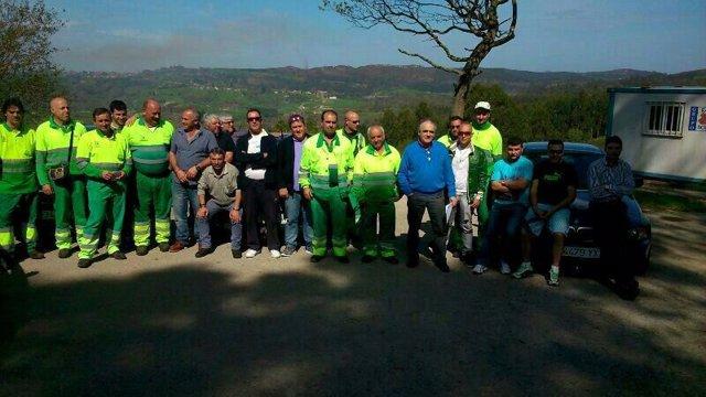 Asamblea de trabajadores del servicio de recogida de basuras del Saja-Nansa