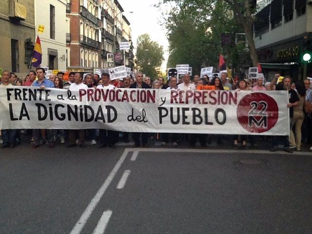 Manifestación por los detenidos el 22M