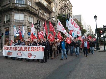 Un millar de personas se manifiesta en Vigo para pedir el indulto de dos sindicalistas