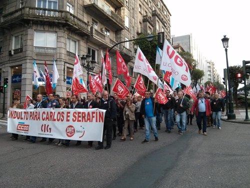 FOTO: Manifestación Sindicalistas Vigo