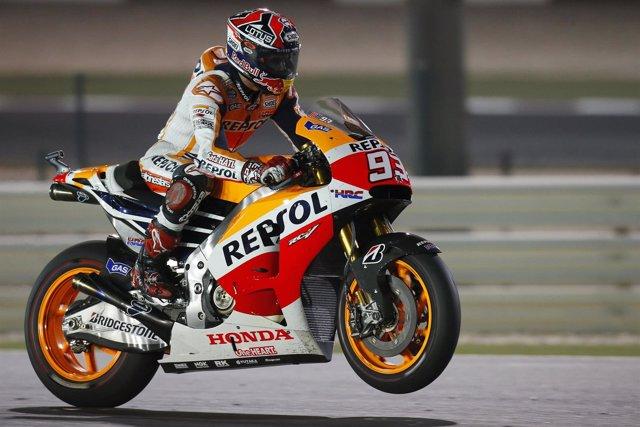 El Piloto español Marc Marquez en el GP de Qatar