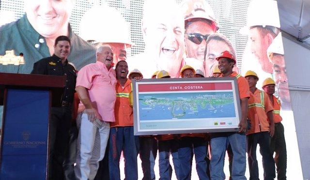 Martinelli inaugura Cinta Costera, Panamá