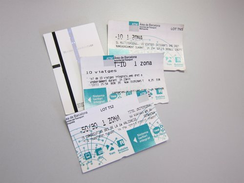 Billetes De TMB De Metro Y Bus De Barcelona (T-10, T-50/30)