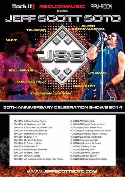 Jeff Scott Soto actuará en mayo en Madrid, Segovia y Vitoria