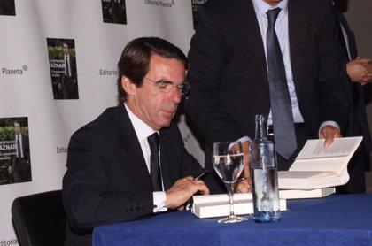 """Aznar: """"Me cuesta mucho ganarme honradamente la vida y pago hasta el último de mis impuestos"""""""