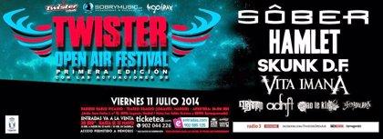 Sôber, Hamlet y Skunk DF en el Twister Open Air Festival