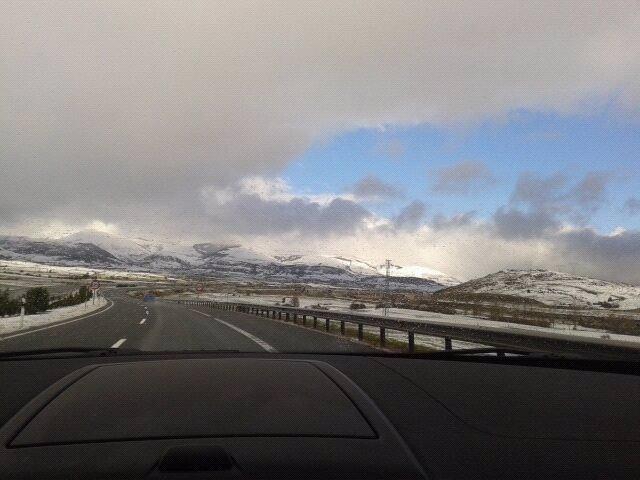 Nieve en Cantabria, carreteras