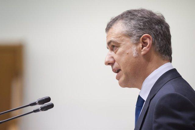 Iñigo Urkullu en el pleno del Parlamento Vasco
