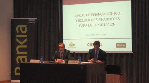 González (Cierval) y Martínez (Bankia) inauguran una jornada sobre créditos ICO