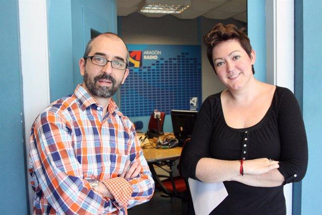Paco Doblas y Rebeca Muñoz, de Aragón Radio