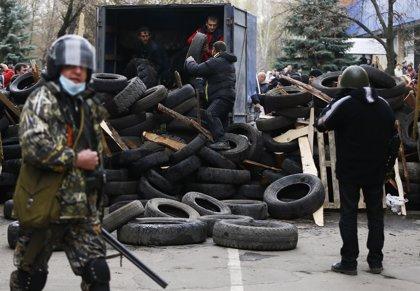 Recorrido en imágenes de la vida en las barricadas en Ucrania