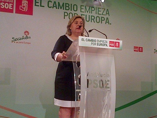 La Parlamentaria Y Secretaria De Acción Ciudadana Del PSOE-A, Clara Aguilera.