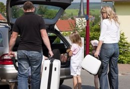 Vehículo, viaje, vacaciones, automóvil, conductor, equipaje