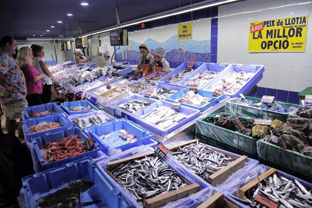 Sección de Pescadería en Mercadona