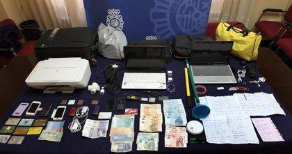 Detenidas seis personas por clonar tarjetas bancarias